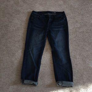 J Crew slim broken in boyfriend jeans!